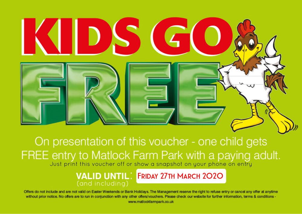 Kids go FREE until 27th March